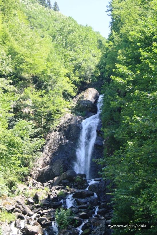 Молочный водопад на Рице