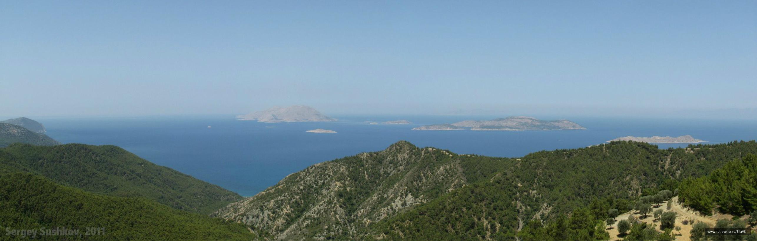 Вид с обзорной точки острова - Kantina Panorama