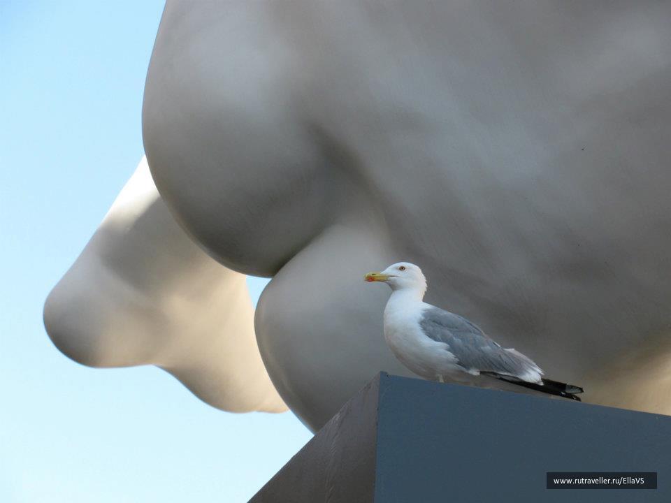 Интересный ракурс. Скульптура Марка Квинна.