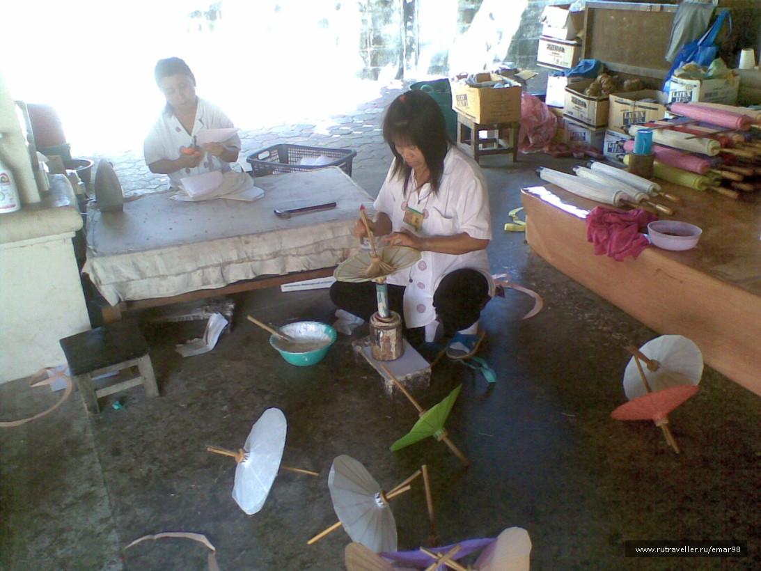 Ручное производство тайских зонтов
