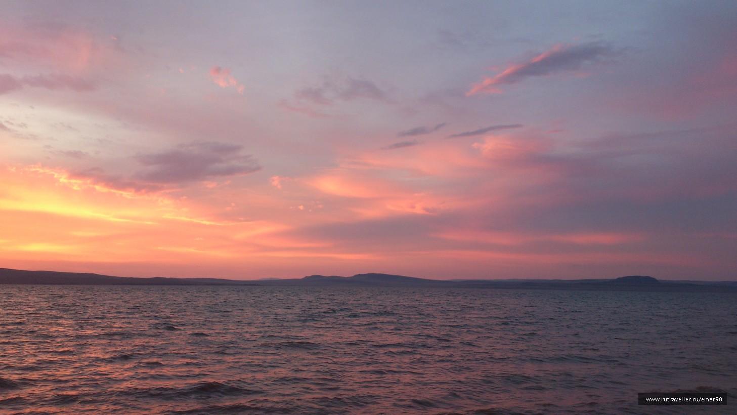 Закат на Белё