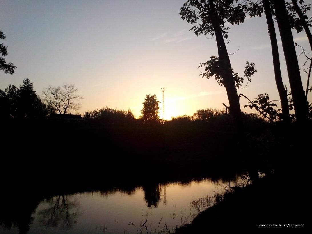Закат на Клязьме
