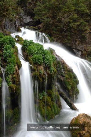 Водопад Исиченко. Мезмай