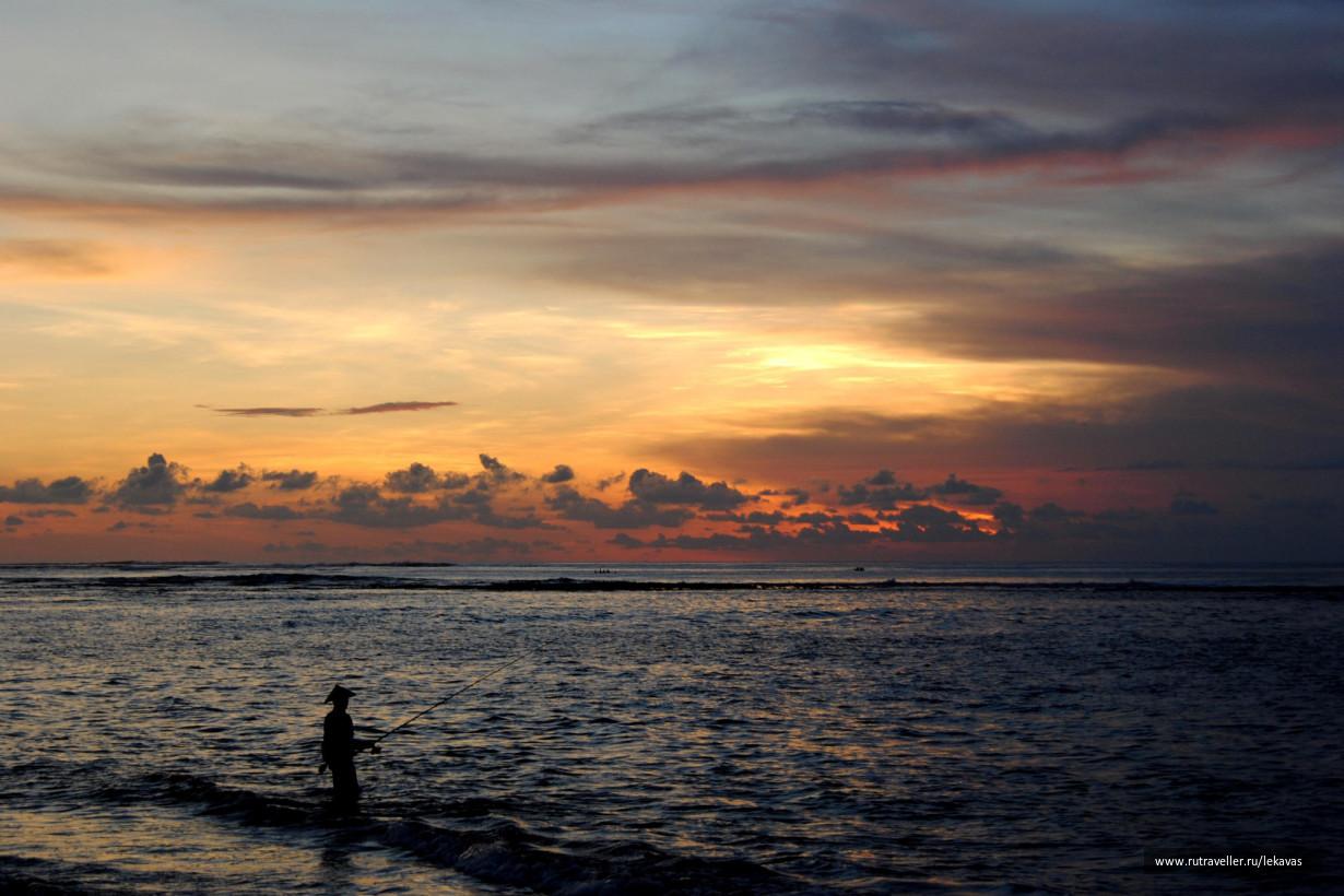 Очарование закатов острова Бали