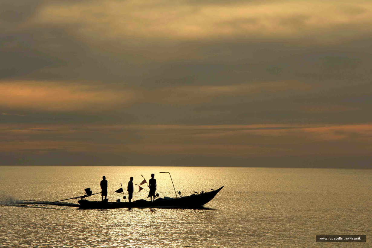 Андаманское море на закате