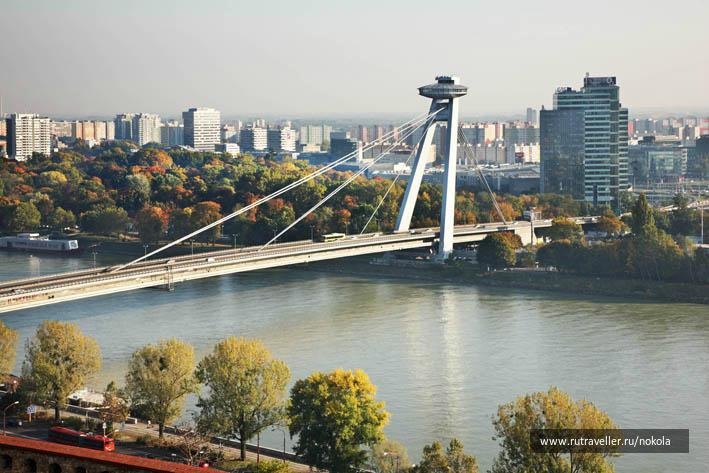 Братислава. Мост SNP (Новый) через Дунай