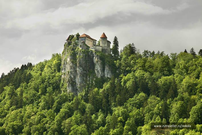 Блед. Бледский замок. Словения