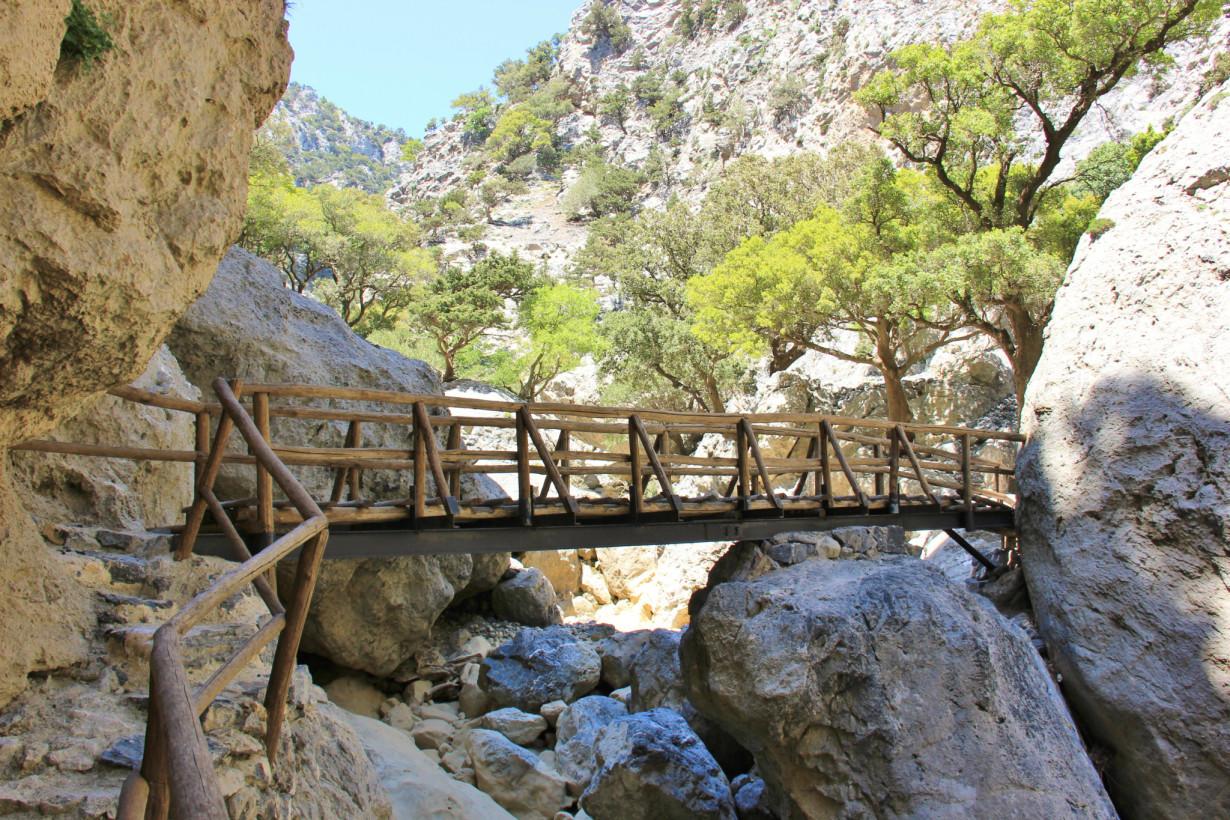 Мост в ущелье