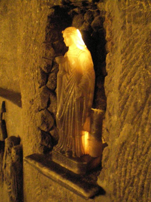 Величка, скульптура из соли