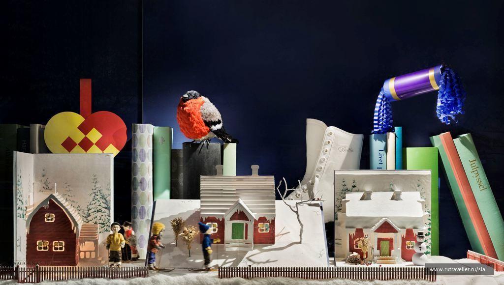 Рождественская витрина универмага NK в 2012 году