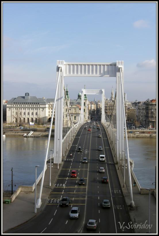 Будапешт. Мост Эржебет.