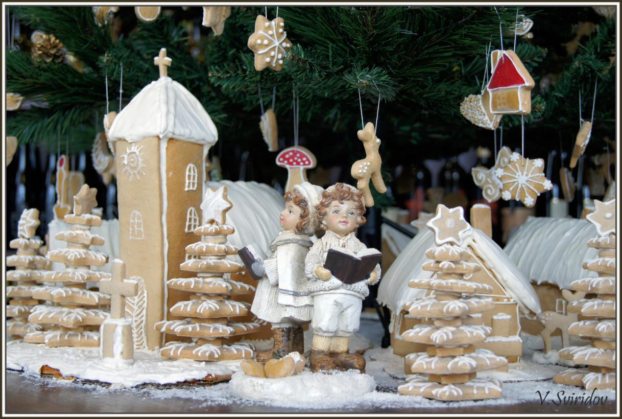 Рождество в винном бутике.