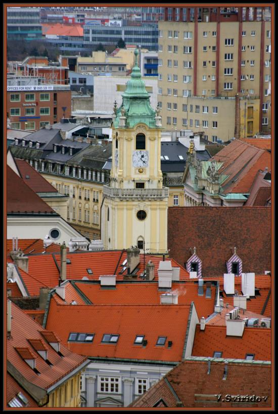 Словакия. Крыши Братиславы.