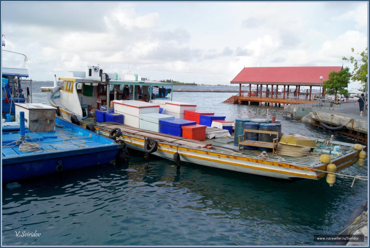 Мальдивы. Мале. Рыбацкий катер.