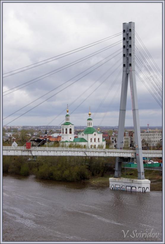 Тюмень. Мост влюбленных.