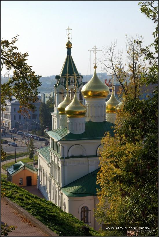 Вид со стен Кремля на храм Рождества Иоанна Предтечи.