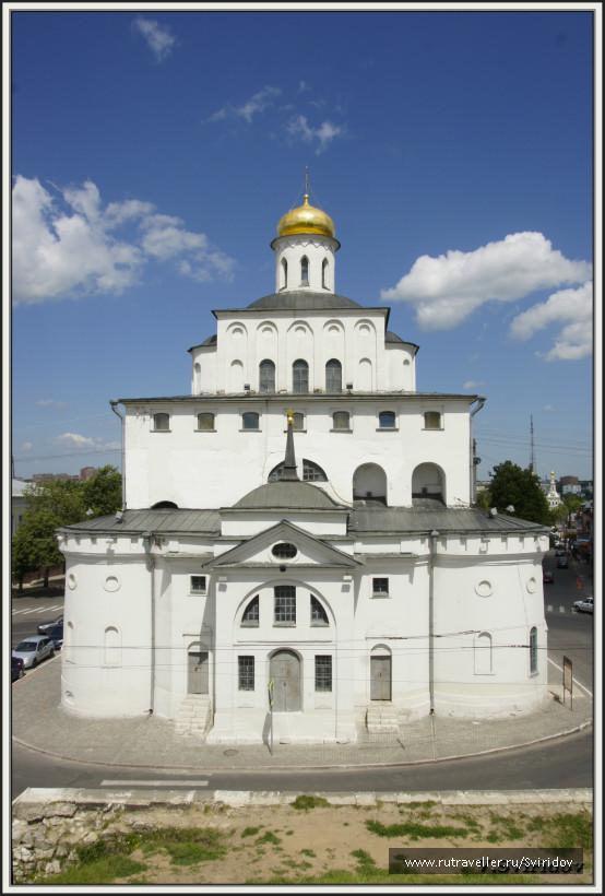 Владимир. Золотые ворота. Вид с Козлова вала.