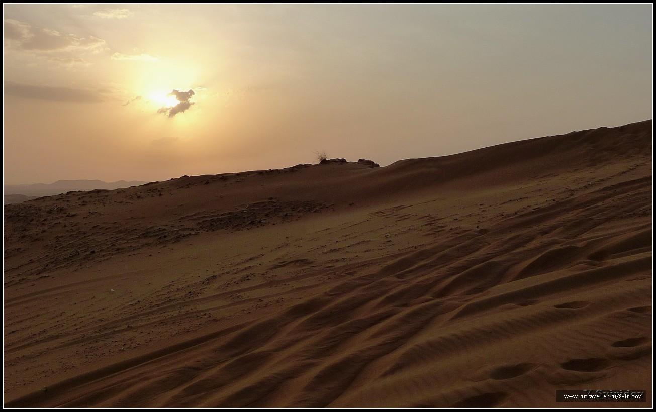 Пустыня в окрестностях Дубаи.