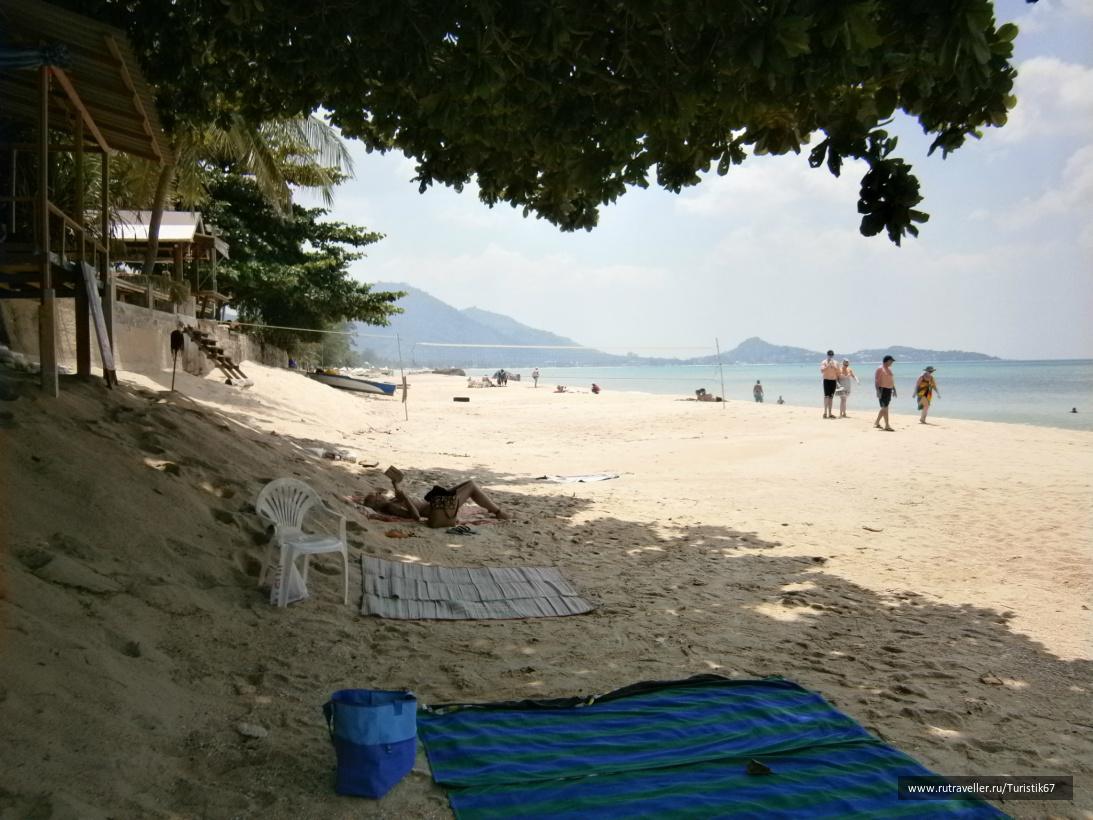 Пляж Ламаи, южная часть.