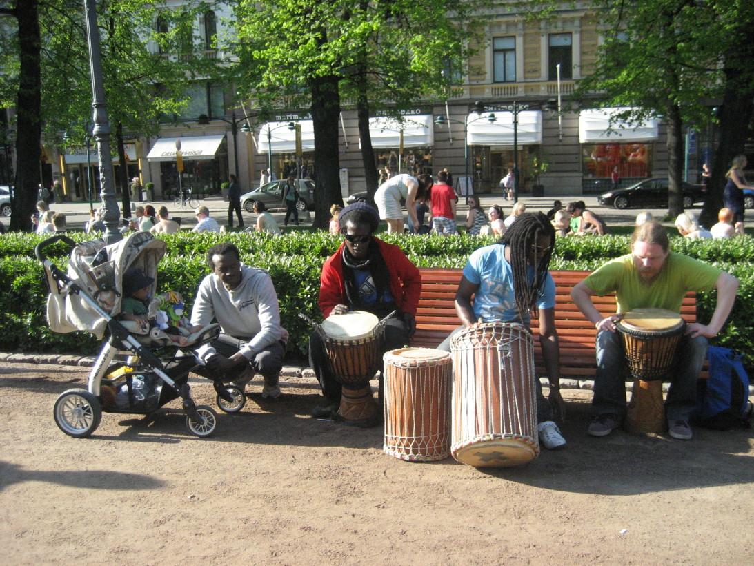 Хельсинки.Парк Эспланада.