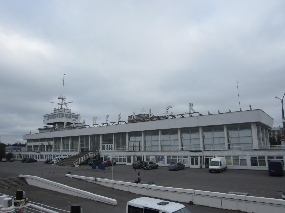 Морской-речной вокзал Архангельска.