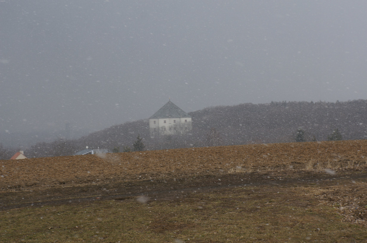 Замок Звезда.Пошел снег...